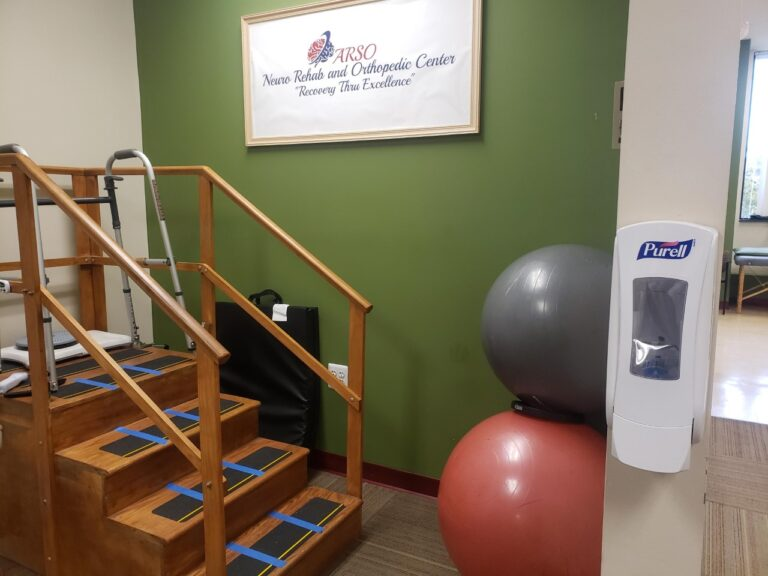 Training Stairs used by therapists to train patients with progressive stepping post-surgery or injury and neurological deficit.